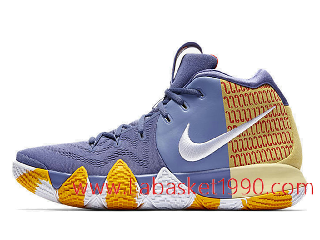sports shoes be026 4581b usa nike kyrie 4 london pe chaussures nike kyrie prix pas cher pour homme  violet jaune