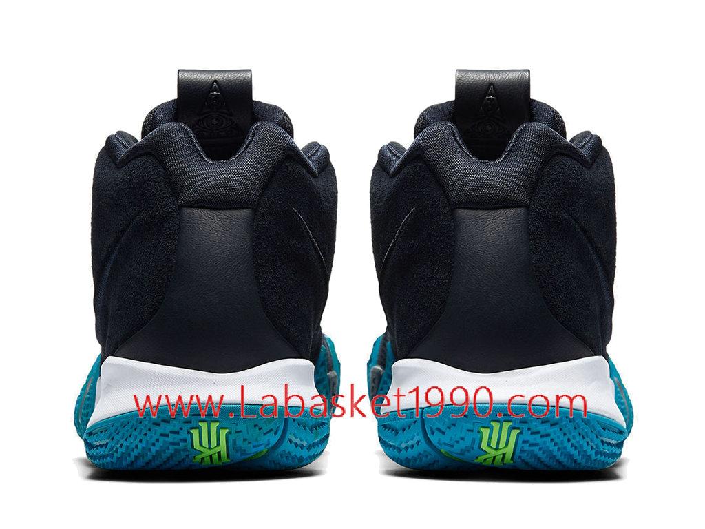 premium selection c09e8 9e76a ... Nike Kyrie 4 Obsidian Chaussures Nike Prix Pas Cher Pour Homme Noir  Bleu 943806-401