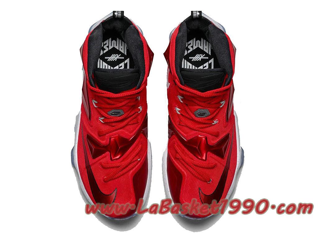 abc6ebd3e9e ... Nike Lebron 13 HOME 807219-610 Chaussures Nike Basket Pas Cher Pour  Homme Rouge Noir ...