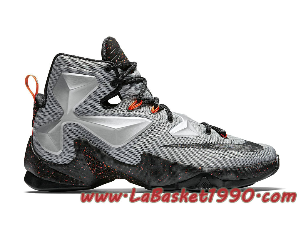 wholesale dealer 478ae 08607 Nike Lebron 13 Metallic Silver 807219-003 Men´s Nike Basketball Shoes Gery  Black
