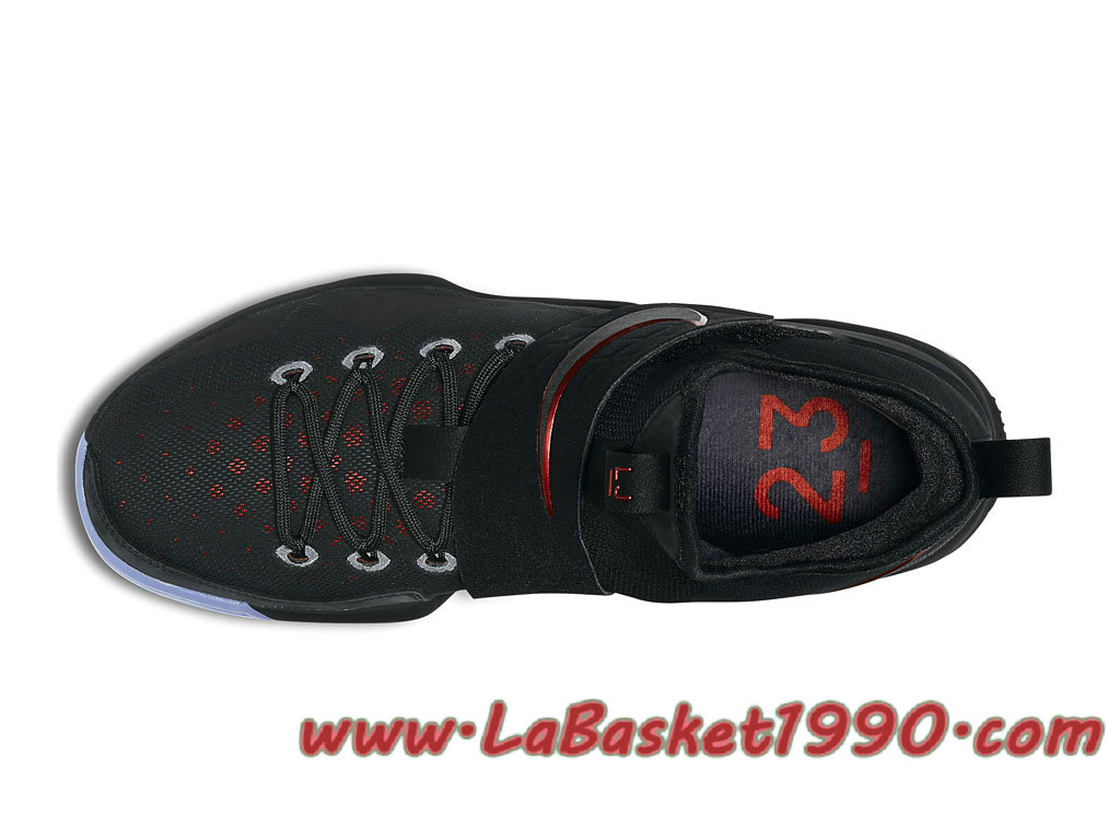 new style e7f63 d1277 ... Nike LeBron 14 Bred 852405-004 Chaussures Nike Basket Pas Cher Pour  Homme Noir Rouge ...