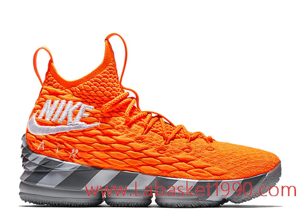 753db54158ff8 Nike LeBron 15 Orange Box AR5125-800 Chaussures Officiel 2018 Pas Cher Pour  Homme ...