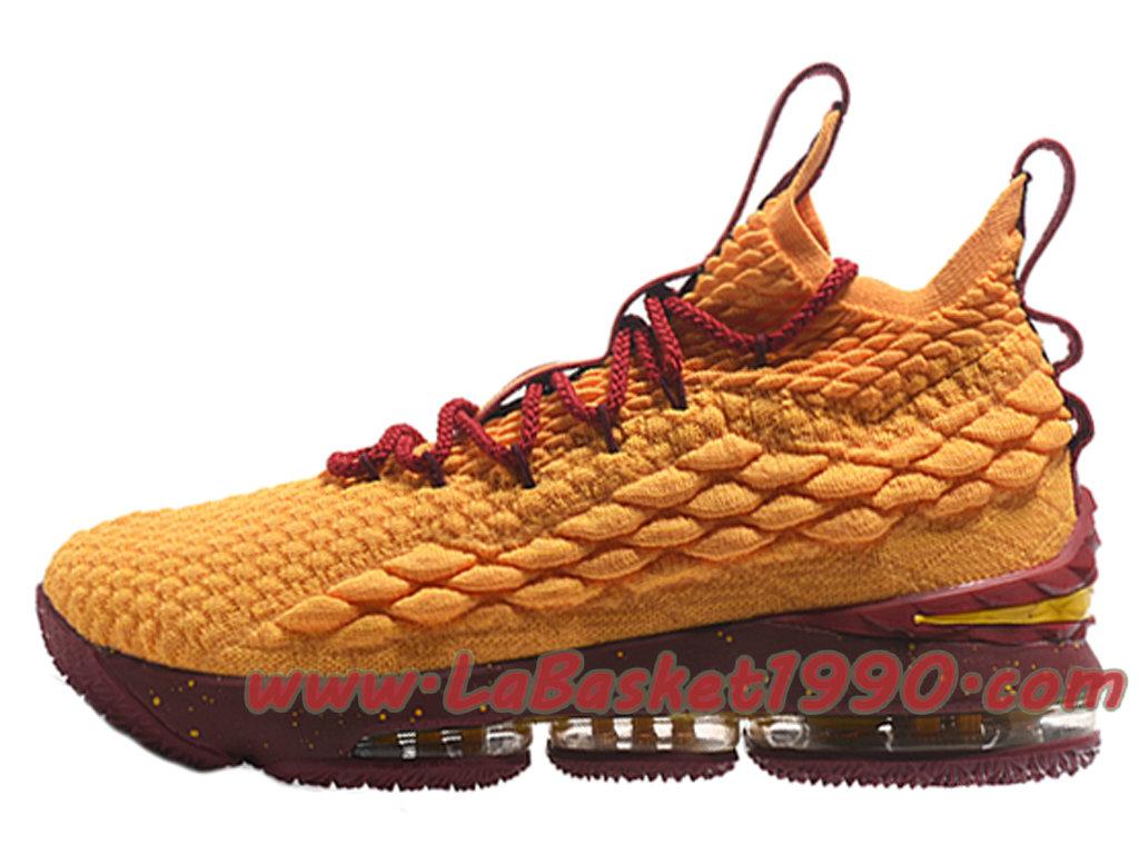 c7a64d6489a Nike LeBron 15 XV Chaussures Nike Prix Pas Cher Pour Homme Officiel 2018  Jaune Rouge ...