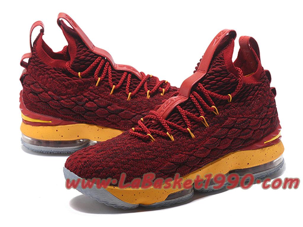 55d10490eec ... Nike LeBron 15 XV Chaussures Nike Prix Pas Cher Pour Homme Officiel  Basket Rouge Jaune ...