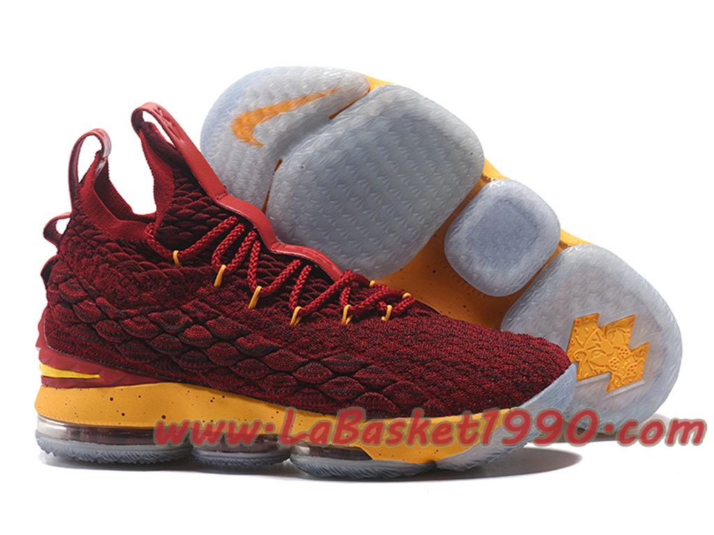 a2105a6c4a6 ... Nike LeBron 15 XV Chaussures Nike Prix Pas Cher Pour Homme Officiel  Basket Rouge Jaune ...