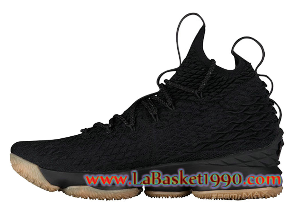 differently ba0ed 78121 Nike LeBron 15 XV Chaussures Officiel Nike Prix Pas Cher Pour Homme Noir  Brun ...