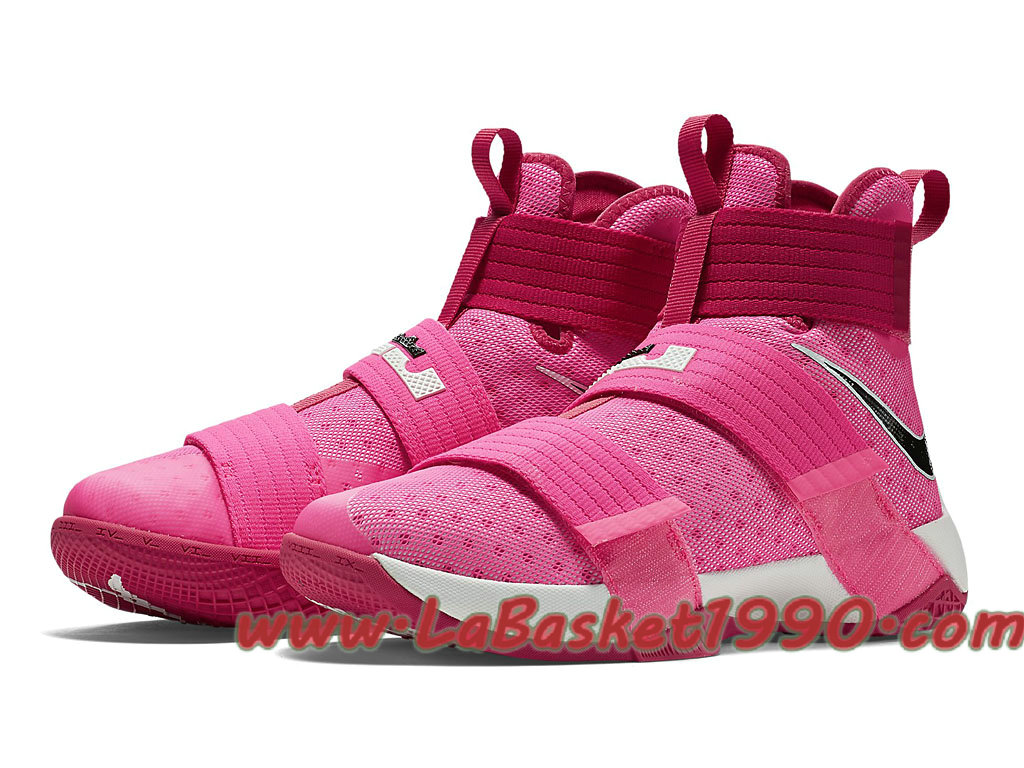 new product f4e8f 0db65 ... Nike LeBron Soldier 10 EP Pink Blast 844375 606 Chaussures Nike Basket  Pas Cher Pour Homme Rose ...