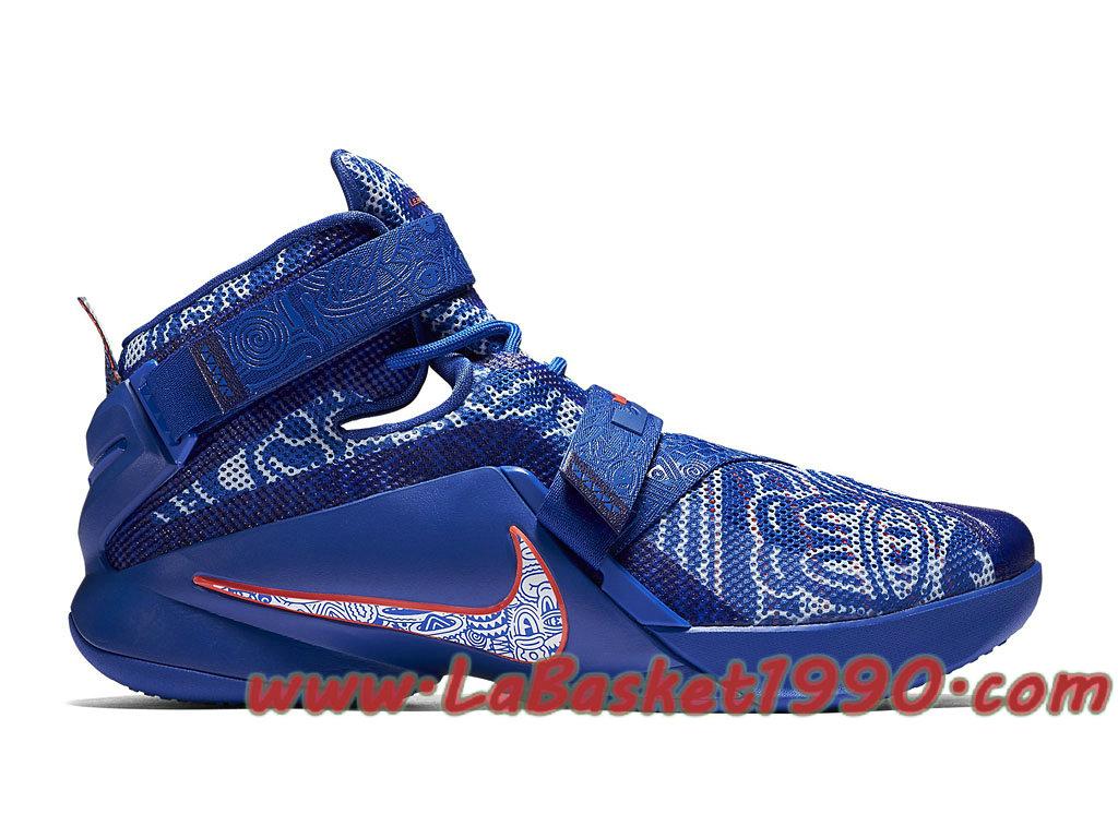 8e53dcda27de Nike Lebron Soldier IX 9 LMTD 810803 418 Chaussures Nike Prix Pas Cher Pour  Homme Bleu ...