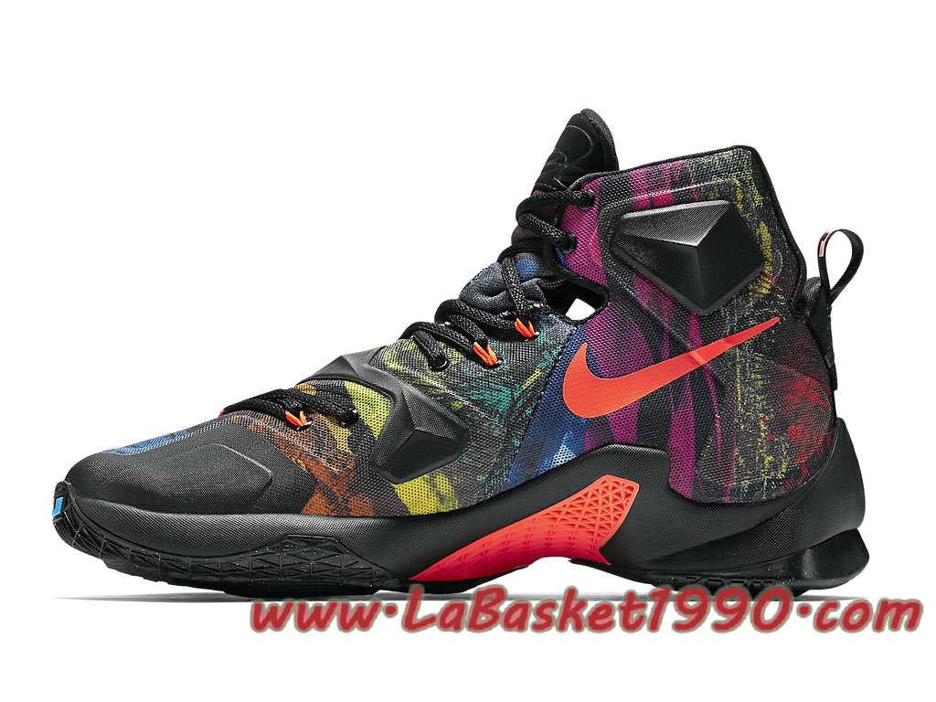 the best attitude af8b5 ec77e ... Nike Lebron XIII 13 Akronite 807219-008 Chaussures NIke Basket Pas Cher  Pour Homme Noir ...