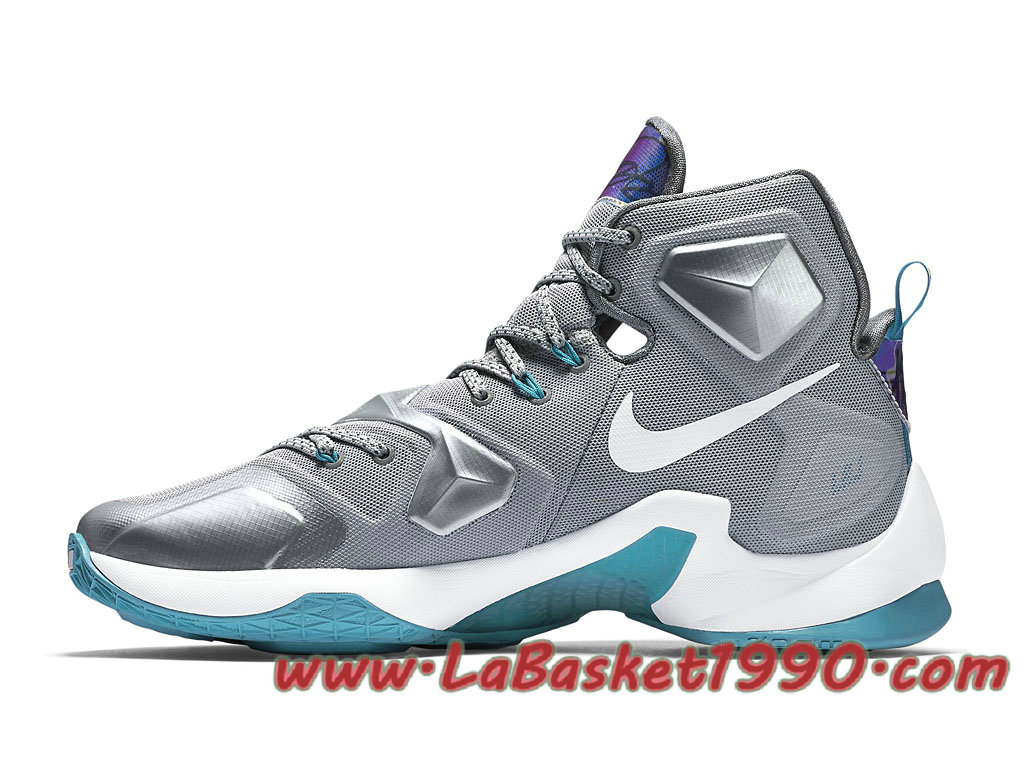 half off ccfb0 8890c ... Nike Lebron XIII 13 Blue Lagoon 807219-014 Chaussures Nike Basket Pas  Cher Pour Homme ...