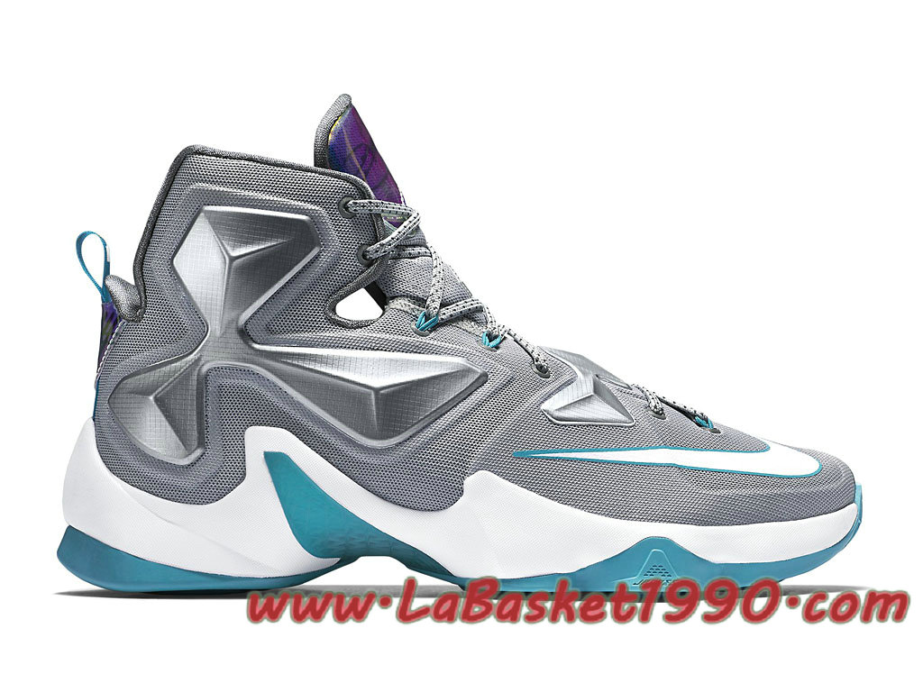 d0ad3ddedf5 Nike Lebron XIII 13 Blue Lagoon 807219-014 Chaussures Nike Basket Pas Cher  Pour Homme ...