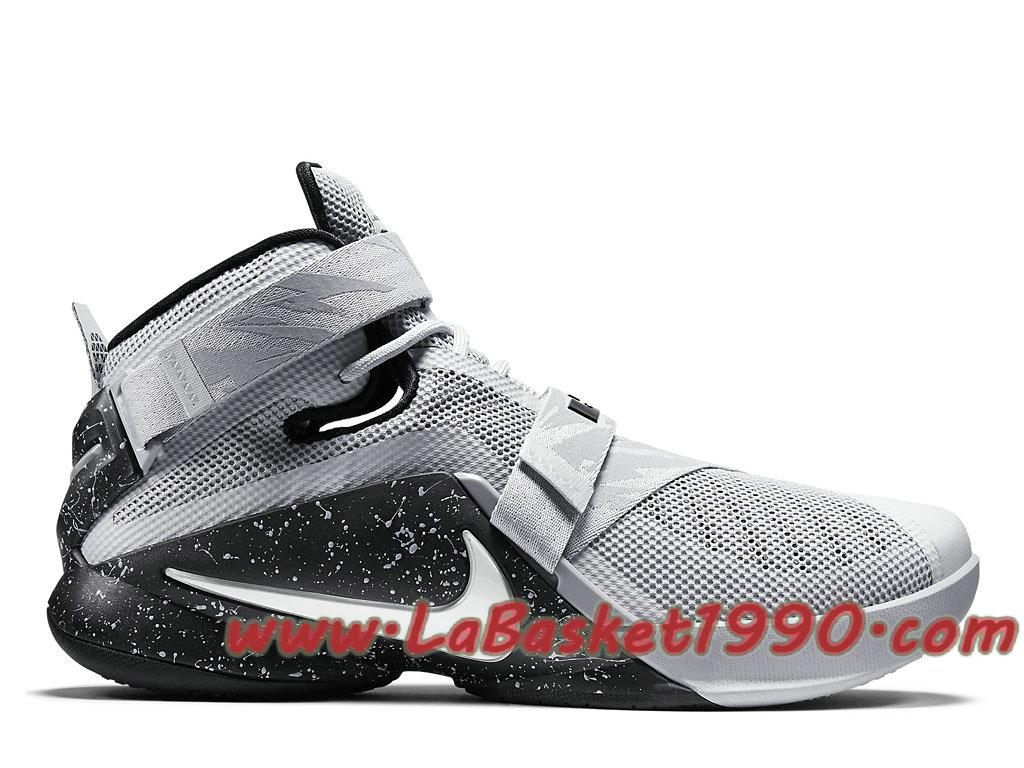Nike Lebron Zoom Soldier 9 749490 010 Chaussures Nike Basket Pas Cher Pour  Homme Blanc Gris 9117ecd3f7a5