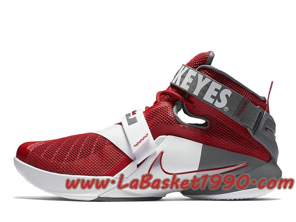 57721805be93 Nike Lebron Zoom Soldier 9 749490 601 Men´s Nike Basketball Shoes Red Gery