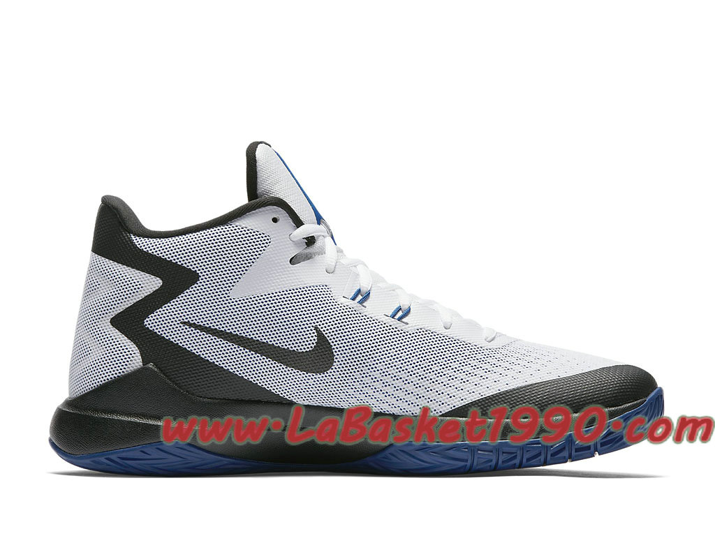 online store 6a308 896ea ... Nike Zoom Evidence 852464-104 Chaussures Nike Basket Pas Cher Pour Homme  Blanc Noir ...