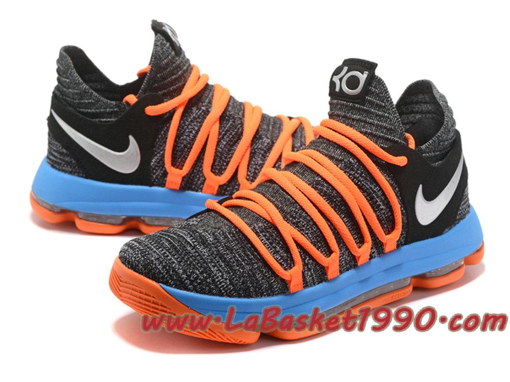 c735e717da627 ... clearance nike zoom kd 10 ep chaussures de basketball pas cher pour homme  gris bleu orange ...