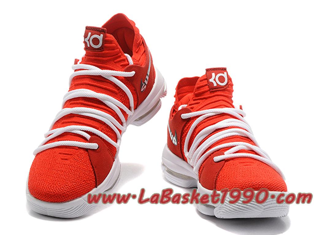 40c8055d64a5e spain nike zoom kd 10 ep chaussures de basketball pas cher pour homme rouge  blanc 7de55