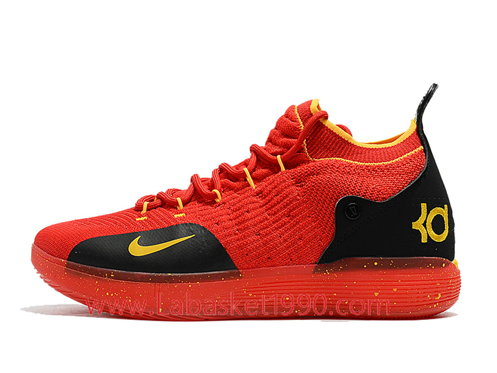 buy online ccfe3 34bf0 Nike Zoom KD 11 EP Chaussures de BasketBall Pas Cher Pour Homme Rouge Noir  AO2604- ...