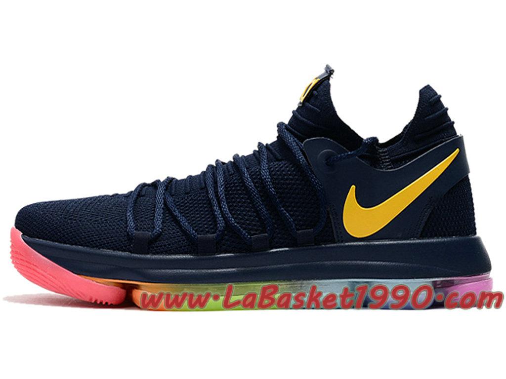 81144a9d990346 Nike Zoom Kd10 Ep Gs Chaussures De Basket Pas Cher Pour Femme Noir