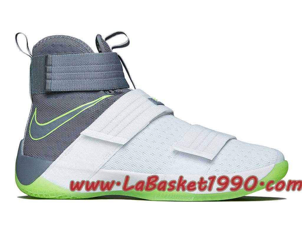 5512a8194e6 Nike Zoom Lebron Soldier 10 Dunkman 844378-103 Men´s Nike Basketball Shoes  White