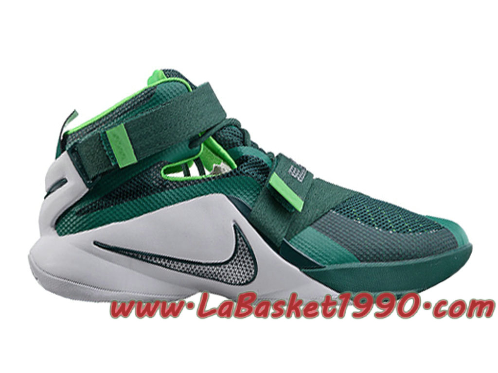 c65c638d3cd Nike Zoom LeBron Soldier 9 749498-301 Men´s Nike Basketball Shoes Green  White