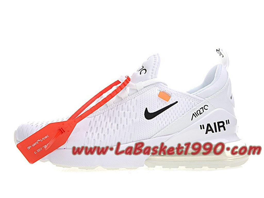 detailed look 3b0cb c1a9d Off white x Nike Air Max 270 Men´s Officiel 2018 Pas Cher Shoes White
