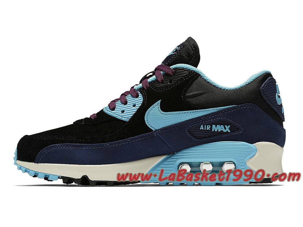 best cheap 7db5d 9a90b ... order running nike air max 90 lthr gs chaussures officiel pas cher pour  femme enfant noir