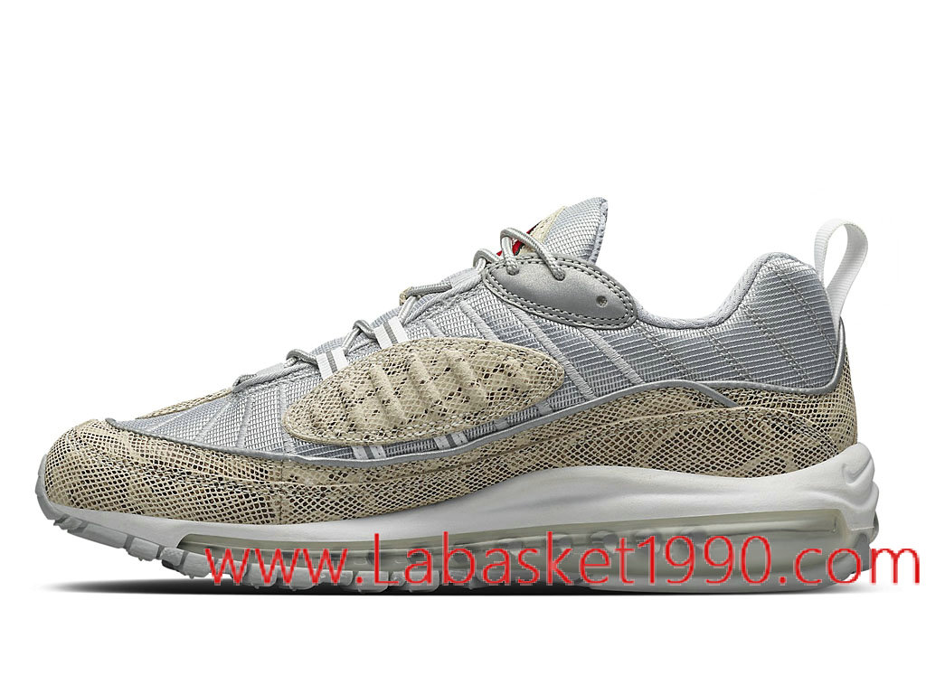 Supreme x Nike Air Max 98 Sail Snake 844694_100 Chaussures Nike Basket Pas Cher Pour Homme Brun Gris 1802251211 Chaussure Basket Homme Nike | Nike