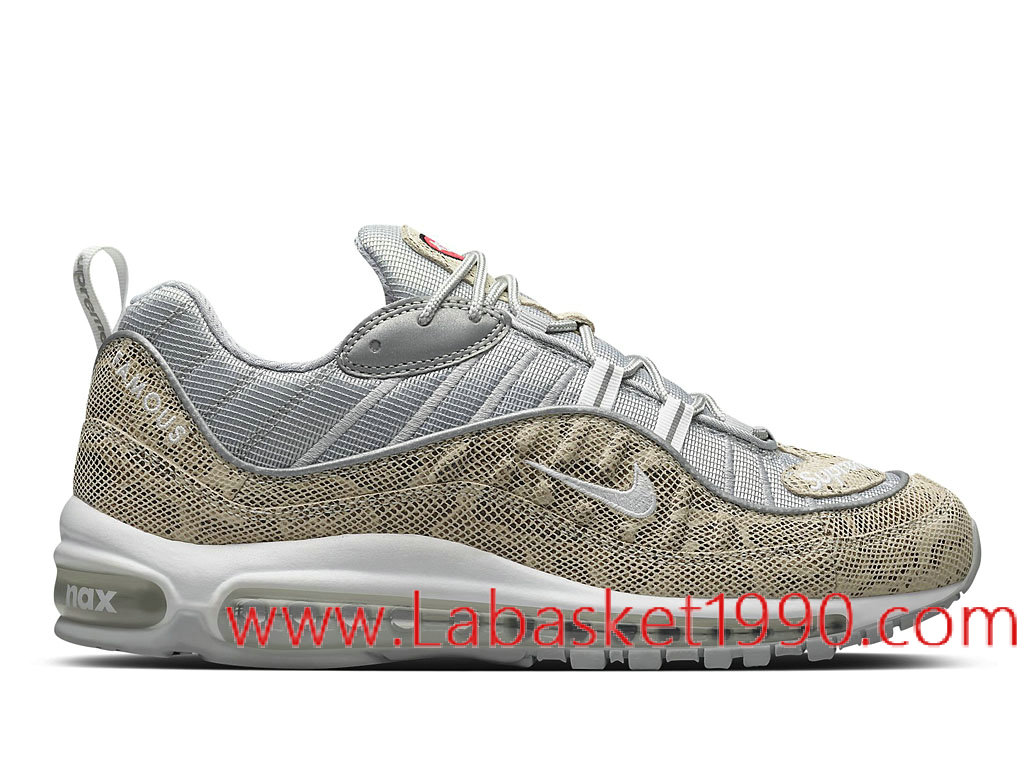 Supreme x Nike Air Max 98 Sail Snake 844694_100 Chaussures