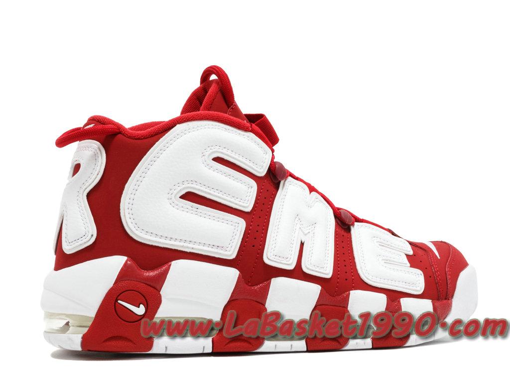 Supreme x Nike Air More Uptempos 902290-600 Chaussures de BasketBall Pas  Cher Pour Homme Rouge Blanc-1711300625-Chaussure Basket Homme Nike | Nike  ...